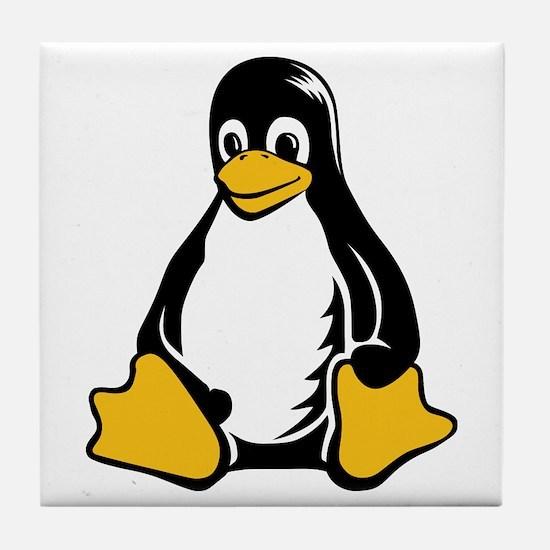 linux tux penguin Tile Coaster