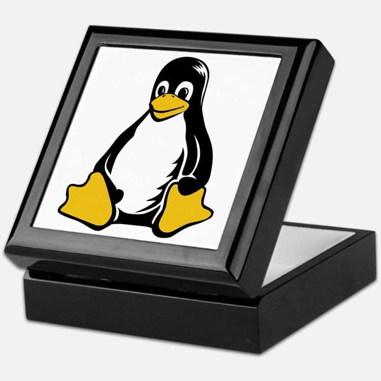 linux tux penguin Keepsake Box