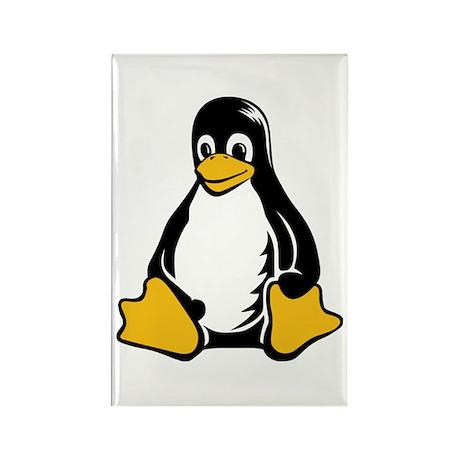 linux tux penguin Rectangle Magnet