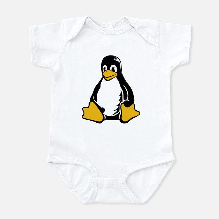 linux tux penguin Infant Bodysuit