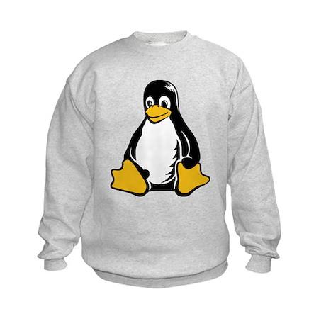 linux tux penguin Kids Sweatshirt