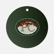 Park City Logo Medallion on Green Round Ornament