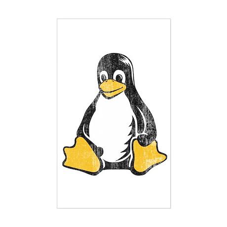 linux tux penguin Rectangle Sticker