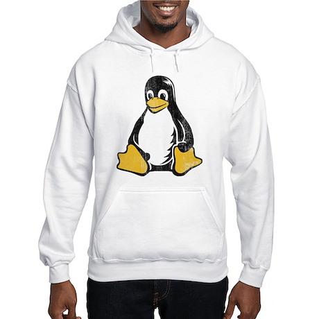 linux tux penguin Hooded Sweatshirt