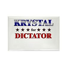 KRYSTAL for dictator Rectangle Magnet