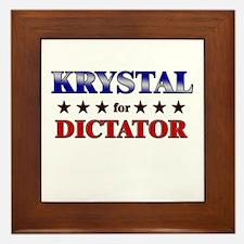 KRYSTAL for dictator Framed Tile