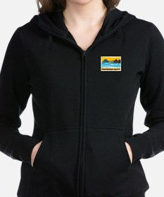 Huntington Beach Pier Women's Zip Hoodie