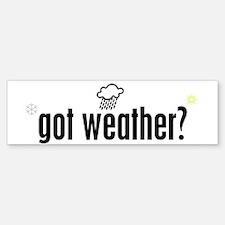 Weather Bumper Bumper Bumper Sticker