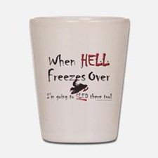 HELL FREEZES DARK DEVIL.png Shot Glass
