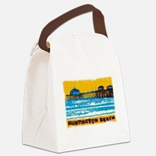 Huntington Beach Pier Canvas Lunch Bag