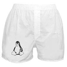 linux tux penguin Boxer Shorts