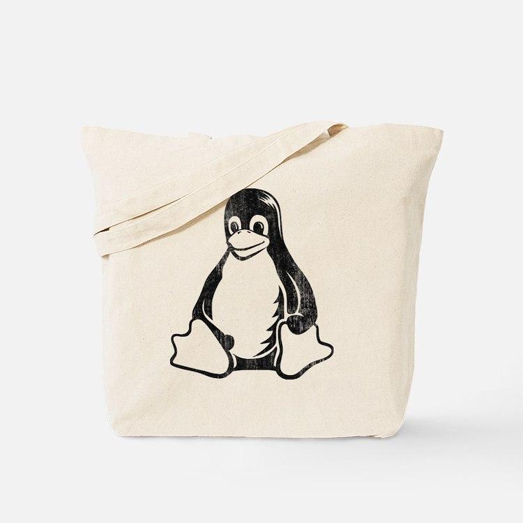linux tux penguin Tote Bag
