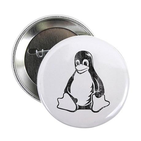 """linux tux penguin 2.25"""" Button"""
