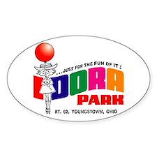 Idora Park Balloon Oval Decal