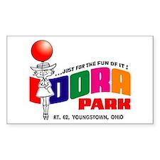 Idora Park Balloon Rectangle Decal