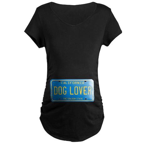 California Dog Lover Maternity Dark T-Shirt
