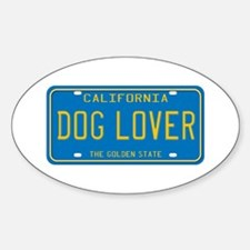 California Dog Lover Oval Decal