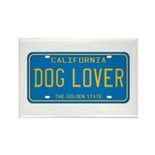 California Dog Lover Rectangle Magnet