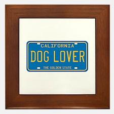 California Dog Lover Framed Tile