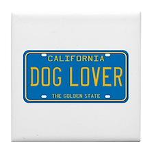 California Dog Lover Tile Coaster