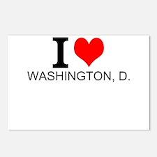 I Love Washington, D.C. Postcards (Package of 8)