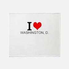 I Love Washington, D.C. Throw Blanket