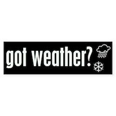 Weather Bumper Bumper Sticker
