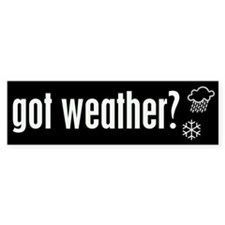 Weather Bumper Bumper Sticker