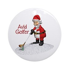 Avid Golfer Ornament (Round)