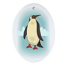 Arctic Penguin Oval Ornament