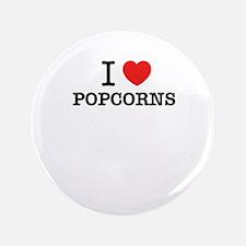 I Love POPCORNS Button