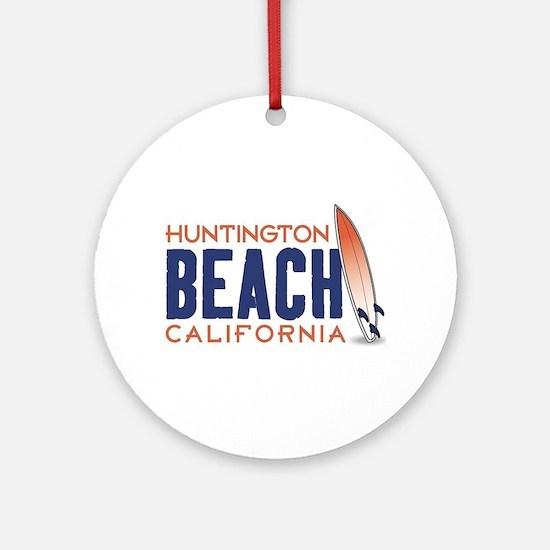 Huntington Beach, CA Round Ornament