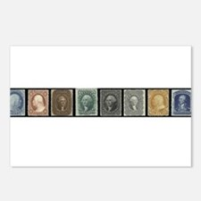 Funny Stamp collecting Postcards (Package of 8)