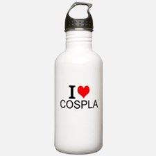 I Love Cosplay Water Bottle