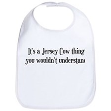 A Jersey Cow Thing Bib