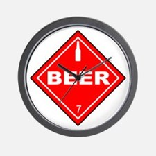 Beer Hazardous Material Sign Wall Clock