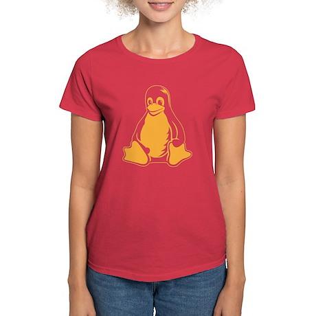 linux tux penguin Women's Dark T-Shirt