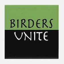 """Birders Unite"" Eco Green TILE COASTER"