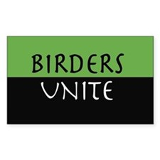 """""""Birders Unite"""" Eco Green STICKER"""