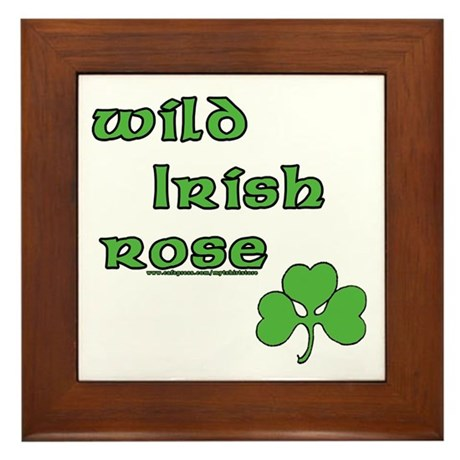 Wild Irish Rose Framed Tile