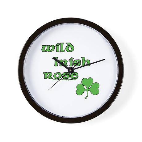 Wild Irish Rose Wall Clock