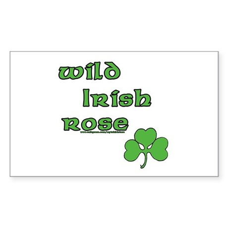 Wild Irish Rose Rectangle Sticker