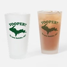 Yooper Drinking Glass