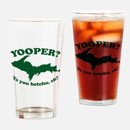 Yooper Drinking Glass