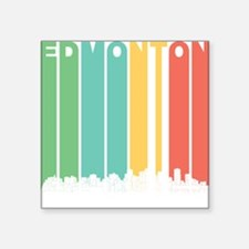 Retro Edmonton Alberta Canada Skyline Sticker