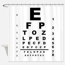 eye chart shower curtains eye chart fabric shower curtain liner. Black Bedroom Furniture Sets. Home Design Ideas