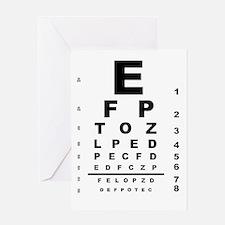 Eye Test Chart Greeting Cards