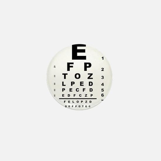 Eye Test Chart Mini Button