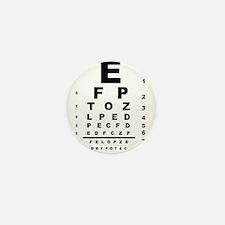 Eye Test Chart Mini Button (10 pack)