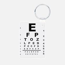 Eye Test Chart Keychains
